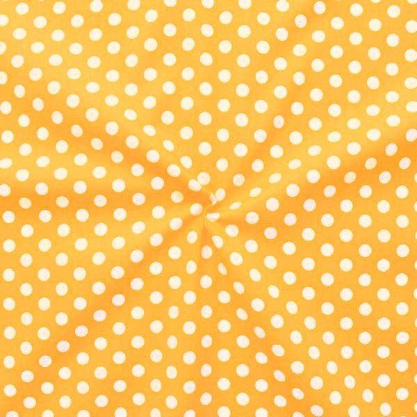 """100% Baumwollstoff """"Tupfen Mittel"""" Farbe Gelb"""