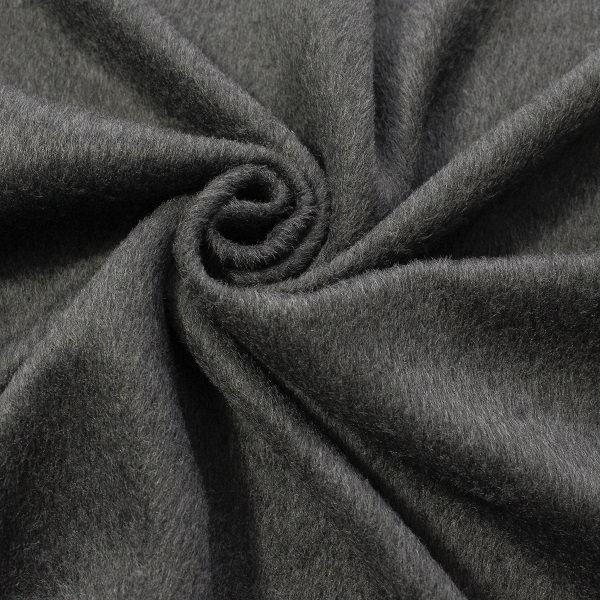 Mantelflausch Wool Look Anthrazit meliert