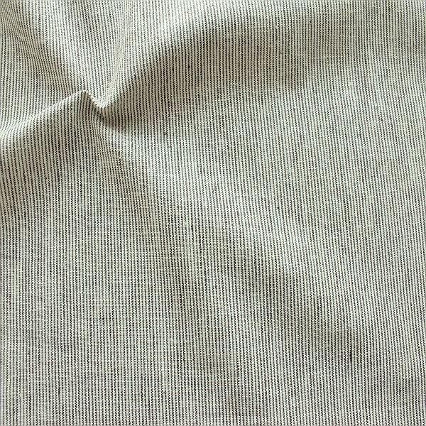 Leinen-Baumwolle Fine Stripes Ecru-Braun
