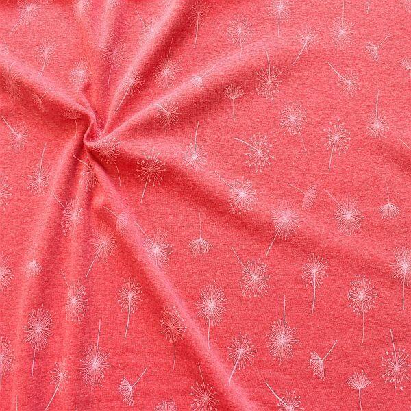 Alpenfleece Sweatshirt Pusteblumen Rot