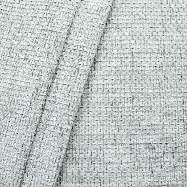 Polster- Möbelstoff Bouclé Optik Artikel Lawa Farbe Weiss-Grau