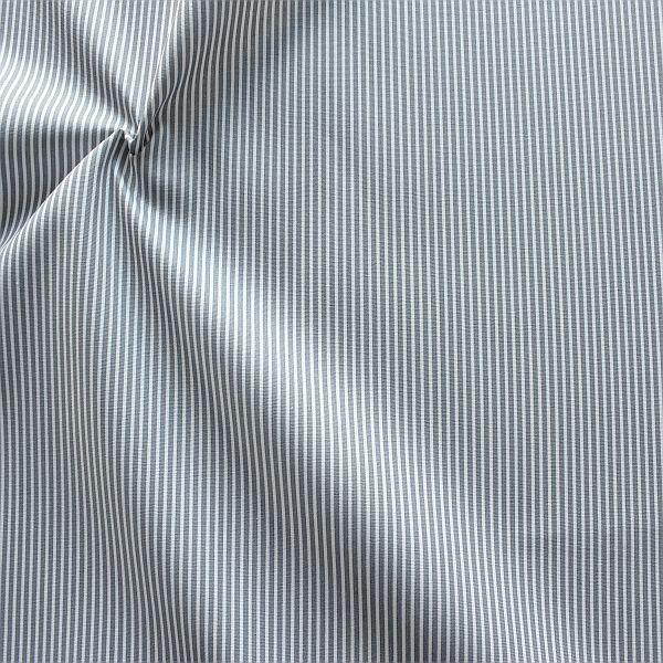 Baumwollstoff Längsstreifen fein Grau-Weiss