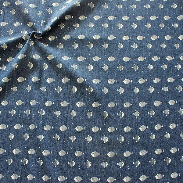 Stretch Denim Jeans Kleine Fische Jeans-Blau