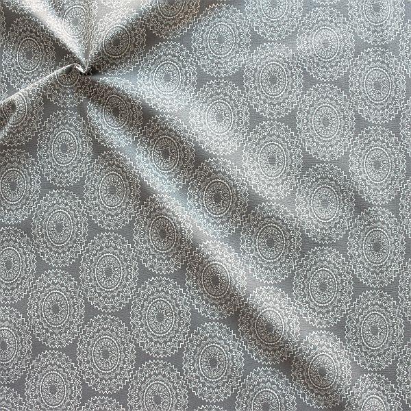 Baumwollstoff Mandala Gipsy Grau
