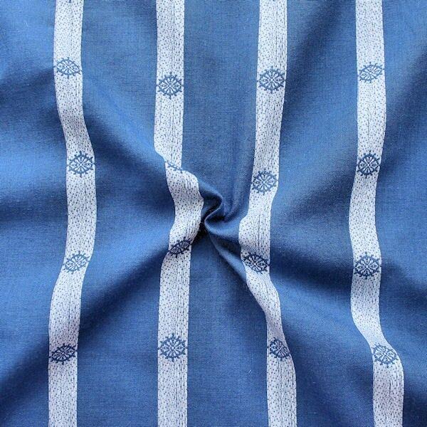 """Polyester Baumwolle Mischgewebe """"Steuerrad 3"""" Farbe Blau"""