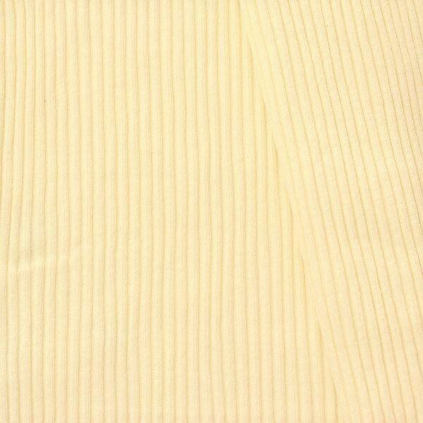 Baumwoll Bündchenstoff  Doppelripp Creme-Weiss