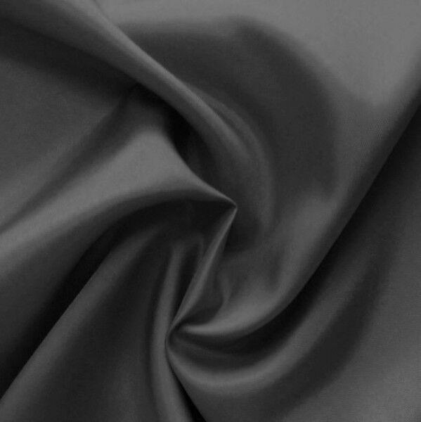 Acetat Taft Futterstoff Farbe Dunkel-Grau