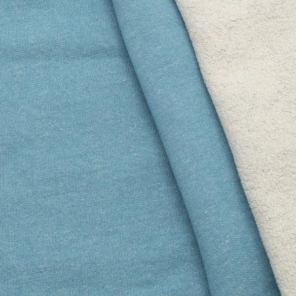 Sweatshirt Baumwollstoff Winter Melange Jeans-Blau