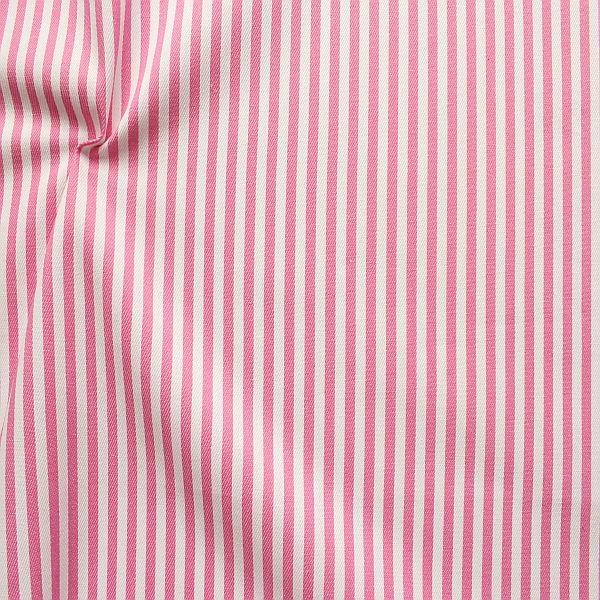 Baumwolle Denim Jeans Stoff Streifen Mittel Rosa-Weiss