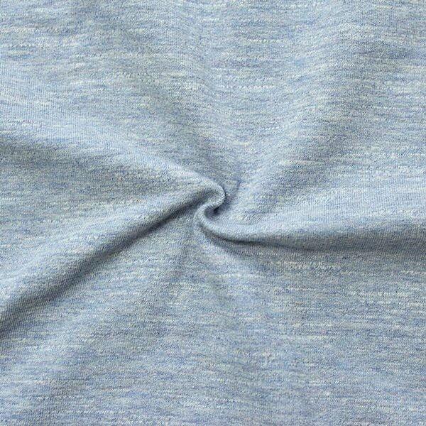 "Sweatshirt Baumwollstoff ""Melange 2"" Farbe Hell-Blau"