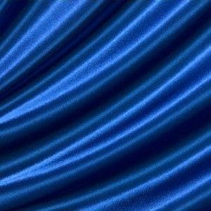 Blauer Satinstoff für Weihnachten