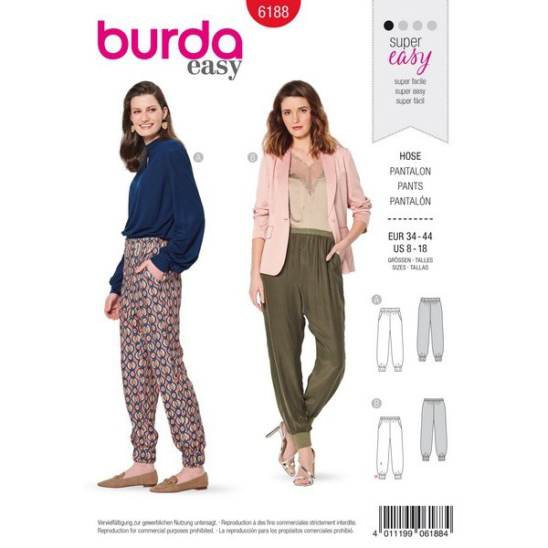 Shirt mit überschnittenen Schultern – weiter Stehkragen, Gr. 34 - 44, Schnittmuster Burda 6188