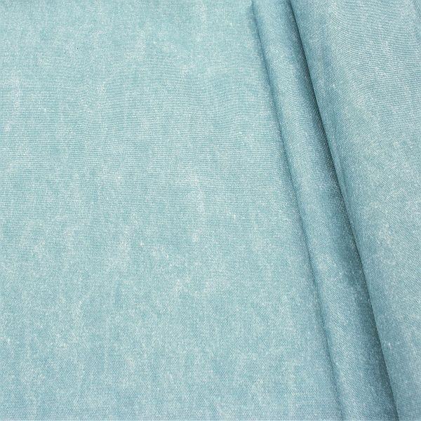 Outdoorstoff Jeans Used Optik Hell-Blau