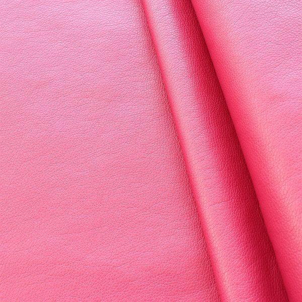 Lederimitat PU Kunstleder Soft Touch Metallic Rosa-Pink