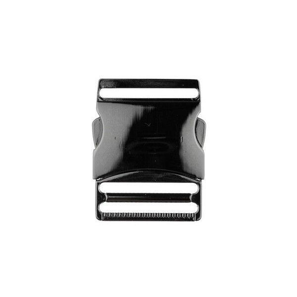 Metall-Steckschnalle 40mm Farbe Anthrazit