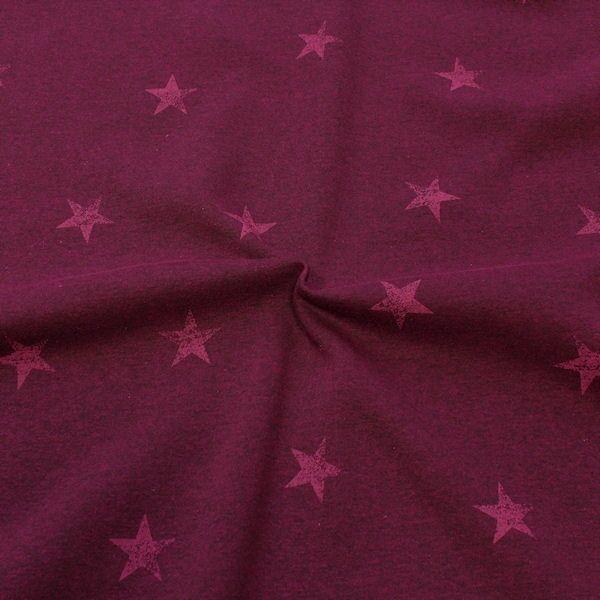 Sweatshirtstoff Sterne Used Look Violett meliert