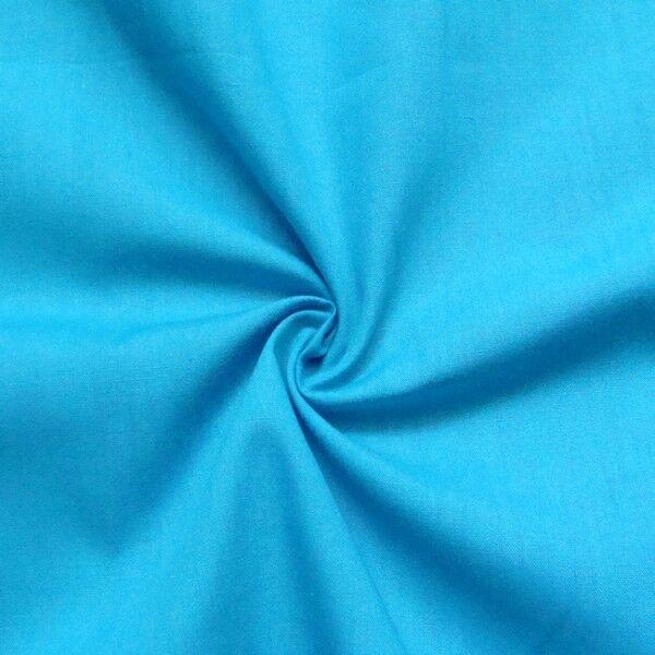Baumwolle Polyester wie Batist Farbe Himmel-Blau