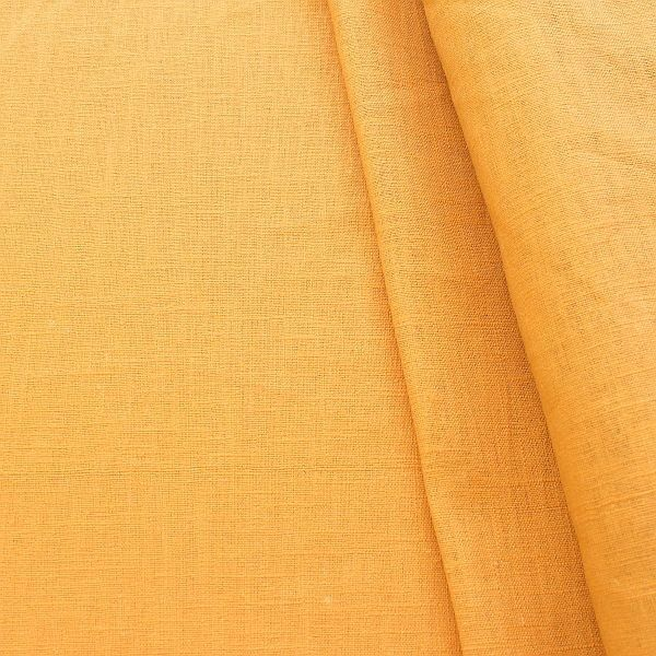 100% Leinen Stoff Curry-Gelb