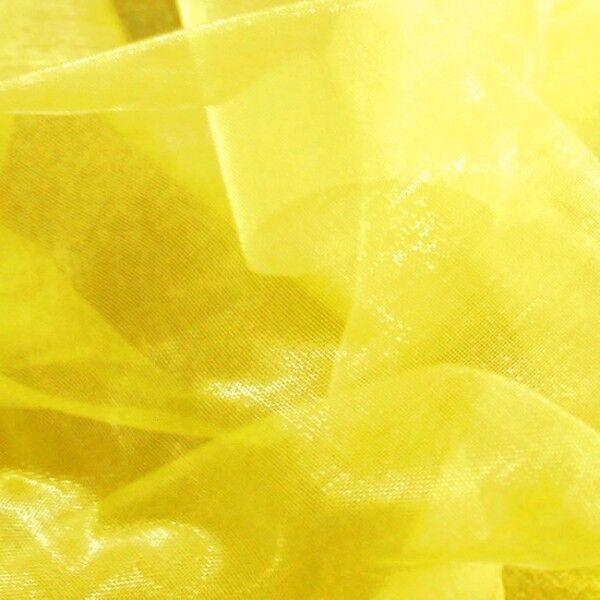 Organza einfarbig Farbe Gelb