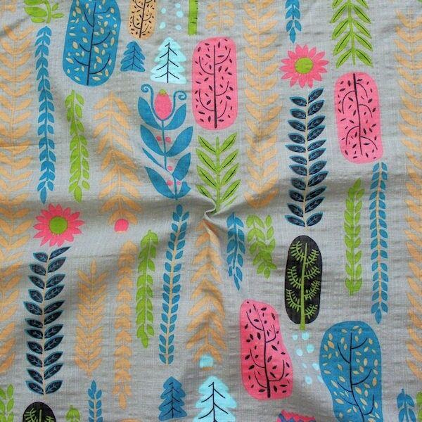 "Baumwolle Viskose Modestoff ""Fashion Print Floral"" Farbe Taupe"