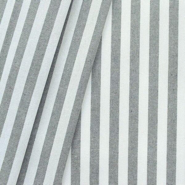"""Dekostoff """"Längsstreifen 2"""" Farbe Grau-Weiss"""