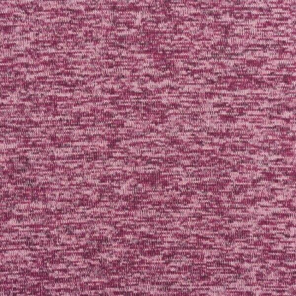 Strick Fleece Melange Violett