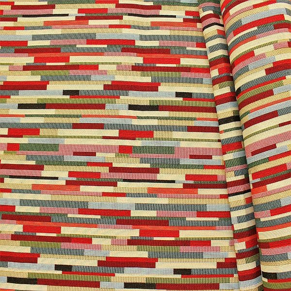 Gobelin Möbelstoff Dekostoff Riemchen Multicolor