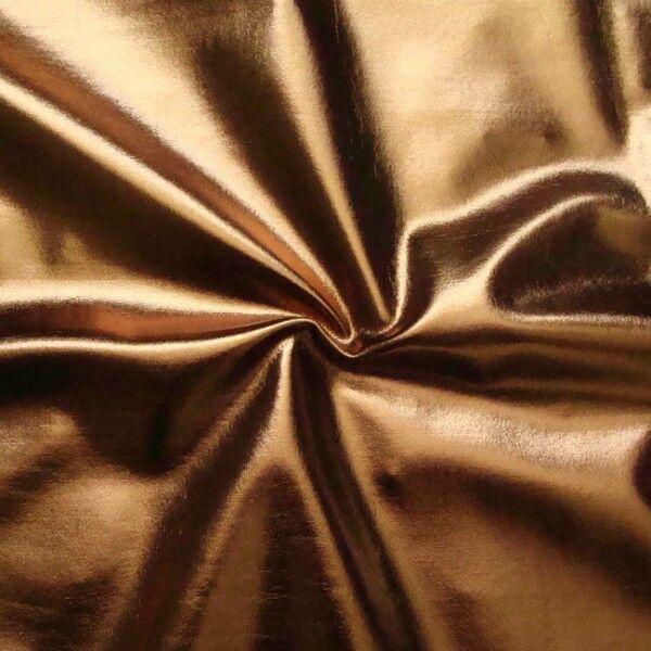 Stretch Folienjersey Farbe Bronze