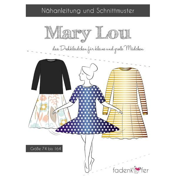 "Fadenkäfer Schnitt ""Mary Lou"" Mädchen Drehkleidchen Größe 74 - 164"