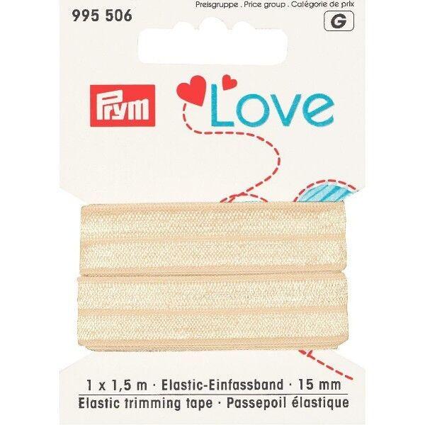 Prym Love 1,5m Elastic-Einfassband 15mm breit beige
