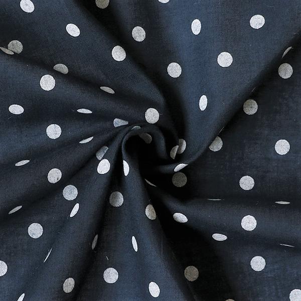 Baumwolle Batist Punkte Dunkel-Blau