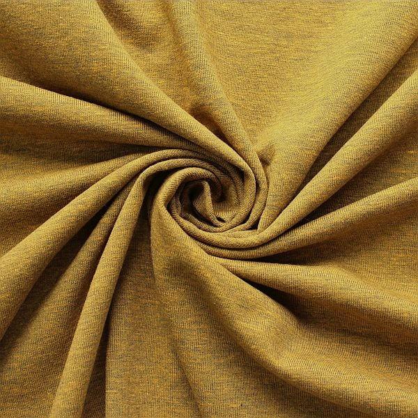 Baumwoll Stretch Jersey Ocker-Gelb melange