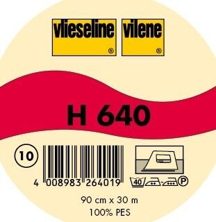 Vlieseline dickes Volumenvlies aufbügelbar Typ H 640 Farbe Weiss