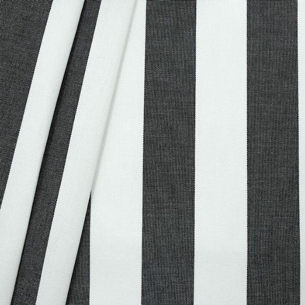 """Markisen Outdoorstoff """"Streifen"""" Breite 160cm Farbe Schwarz-Weiss"""