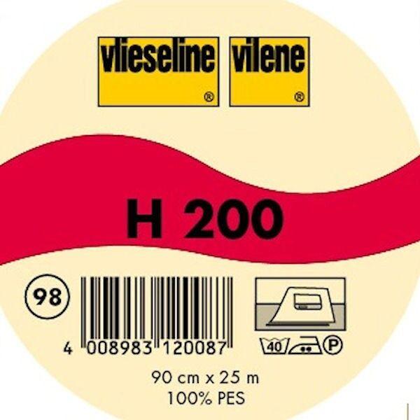 Vlieseline leichte fixierbare Bügeleinlage Typ H 200 Farbe Schwarz