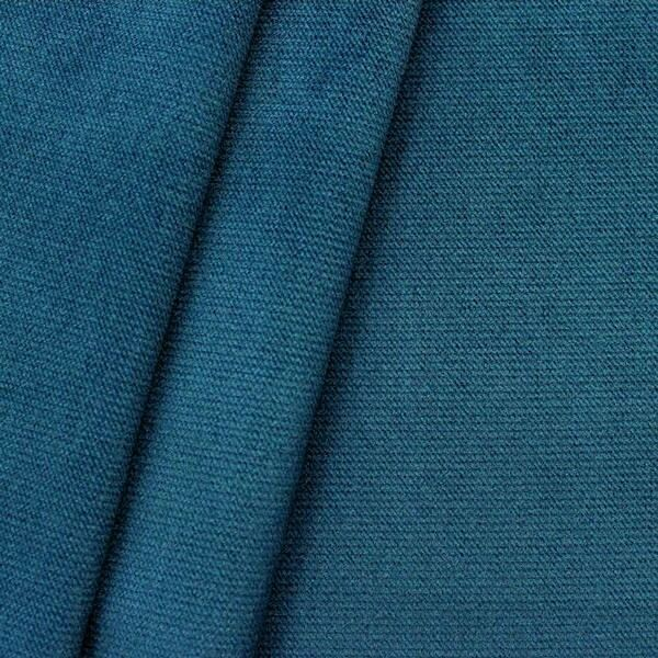 Polster- Möbelstoff Artikel New York Samt-Optik Farbe Adria-Blau