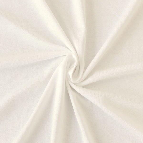 "Viskose Stretch Jersey ""Basic"" Farbe Woll-Weiss"