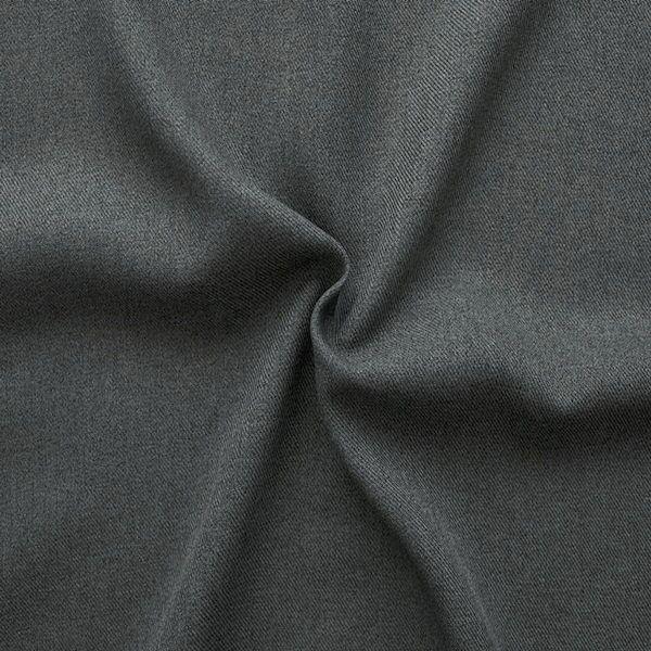 100% Polyester Gabardine Dunkel-Grau meliert