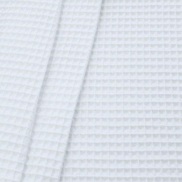 Baumwoll-Waffelpiqué in Weiß