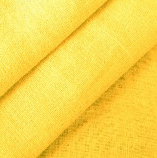 100% Leinen Stoff Artikel Barcelona, Farbe Gelb