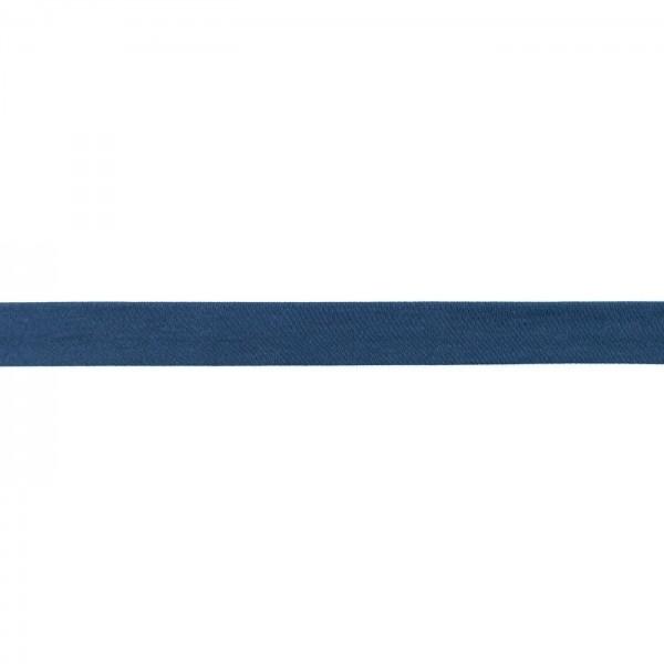 Baumwolljersey Schrägband Breite 20mm Jeans-Blau