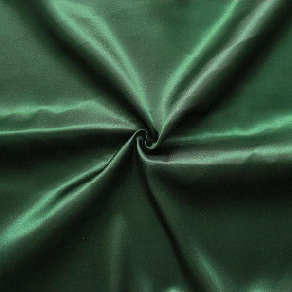 Satin Stoff Farbe Tannen-Grün