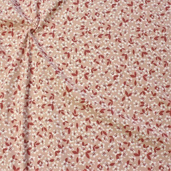 Baumwoll Stretch Jersey Blossoms Rose