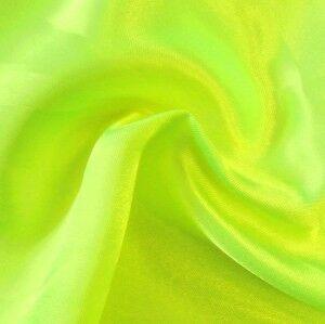 Satin Stoff Farbe Neon-Gelb-Grün