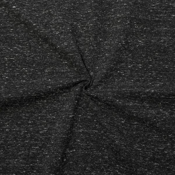 Sweatshirt Baumwollstoff Melange Schwarz