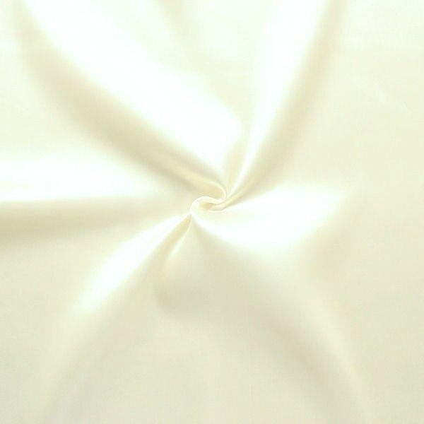 Satin Stoff B1 schwer entflammbar Farbe Creme-Weiss
