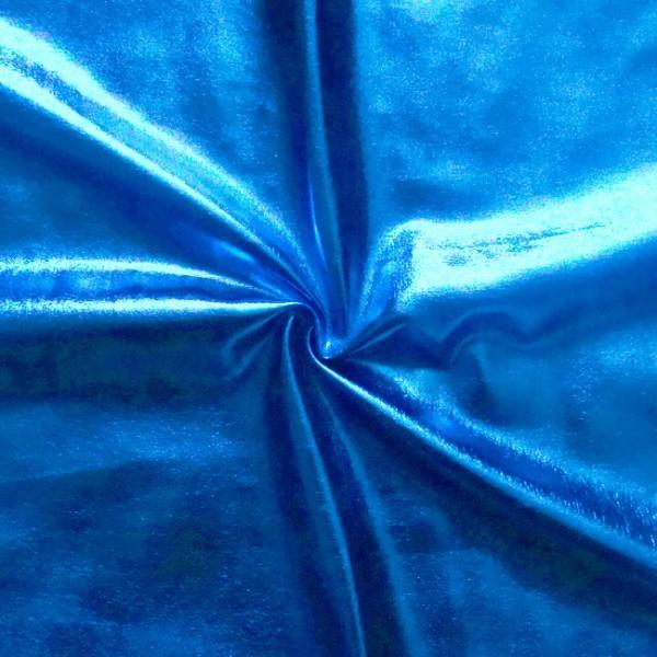Stretch Folienjersey Blau