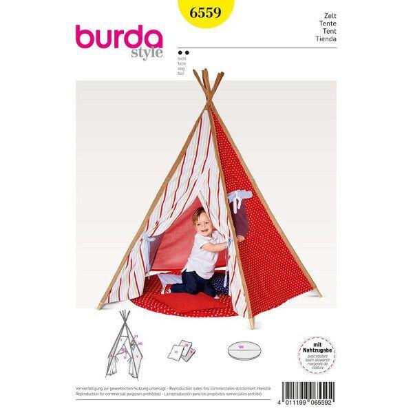 Burda Schnittmuster 6559 Spielzelt - Indianerzelt mit gepolstertem Boden und Kissen