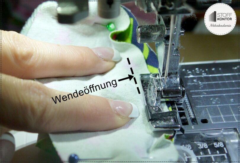 Wende Tippy Toes - Schuhsohle annähen, Wendeöffnung behalten
