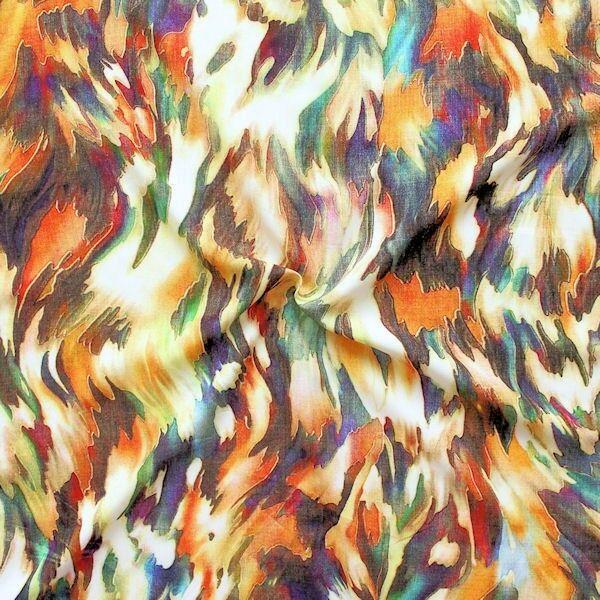 """100% Viskose Javanaise """"Fashion Print 11"""" Multicolor"""